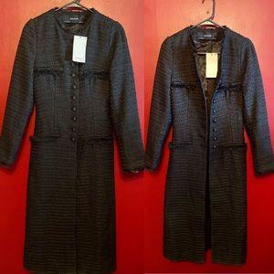 (Zara) NWT 🏷 Tweed Dress Coat